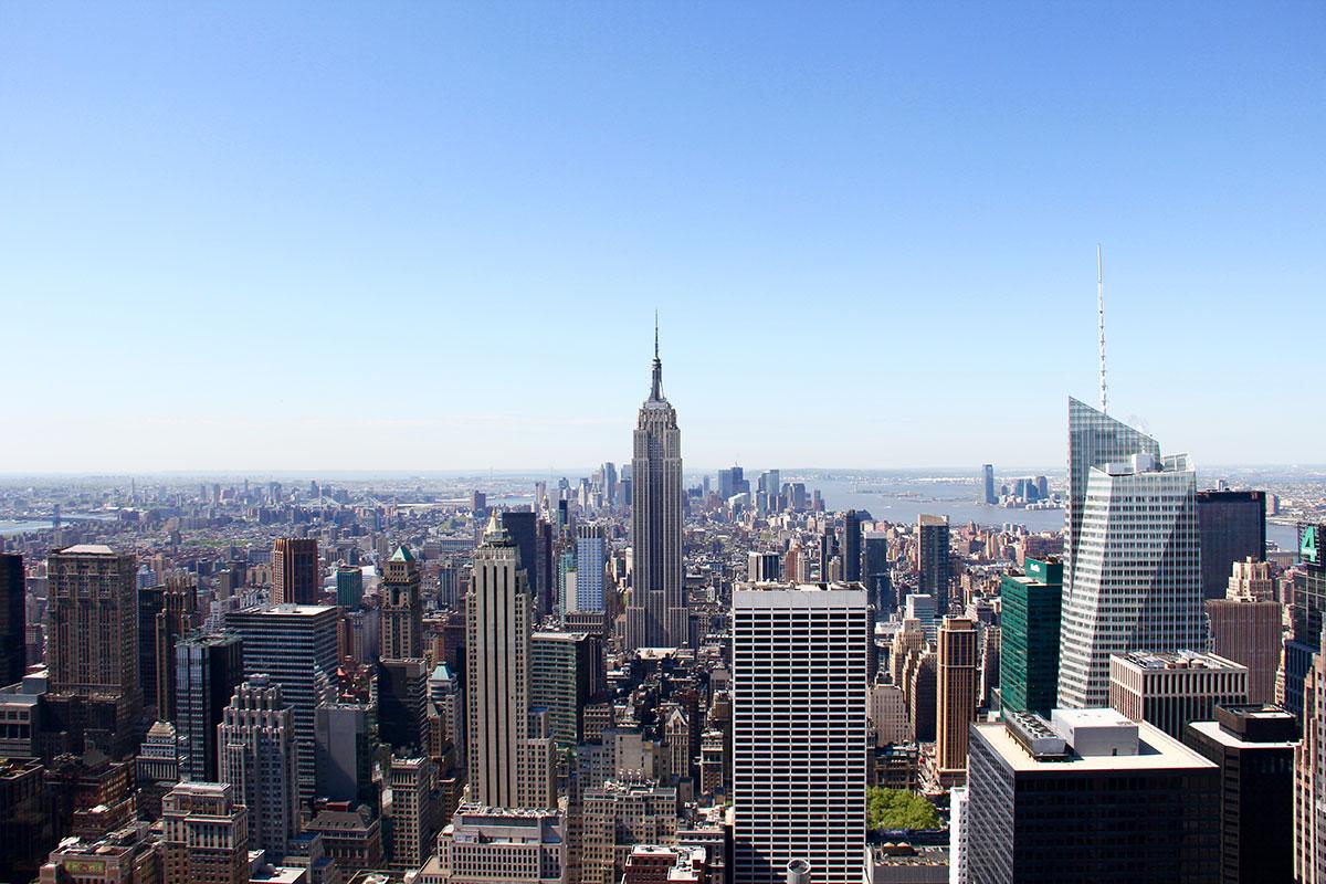 New York City, Empire State Building vom Rockefeller Center fotografiert