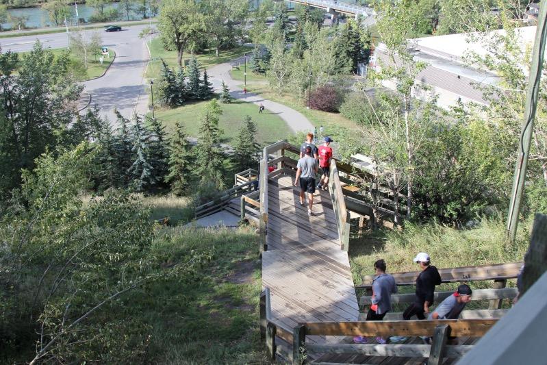 Treppen Joggen in Calgary