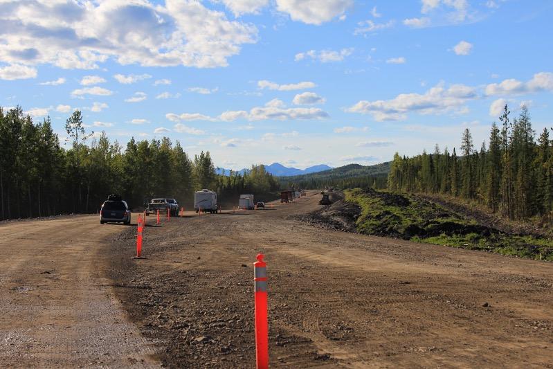 Baustelle am Alaska Highway
