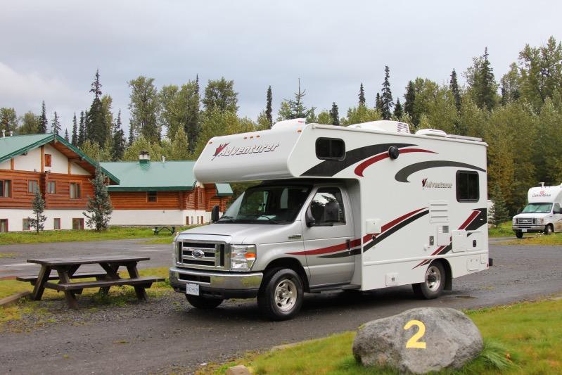 Unsere Campsite bei bei der Bell 2 Lodge