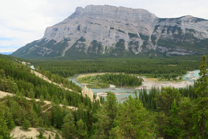 Blick ins Bow River Valley in Banff