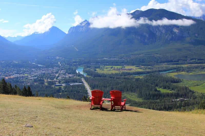 Tolle Aussicht auf Banff