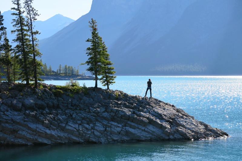 Holger am Lake Minnewanka