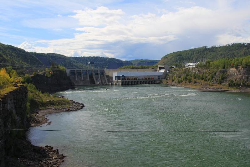 Der kleine Peace River Damm