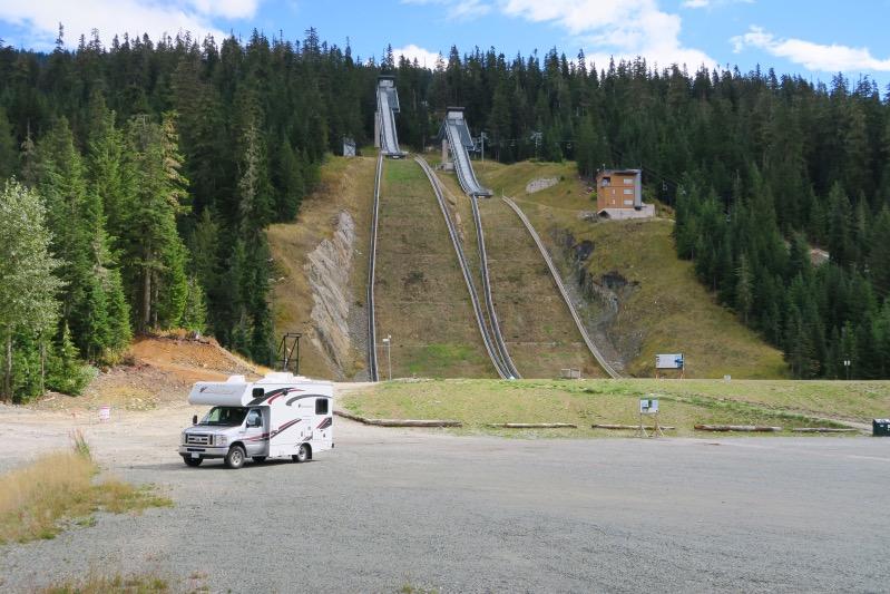 Skisprungschanzen im Olympic Park