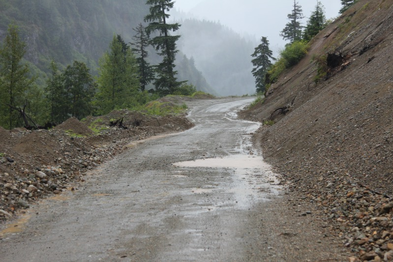 Straße zum Salon Glacier