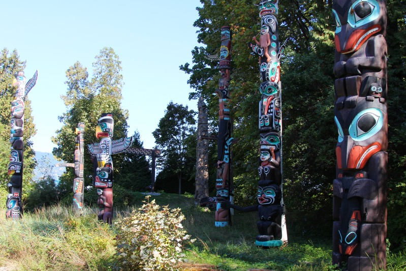 Totems im Stanley Park