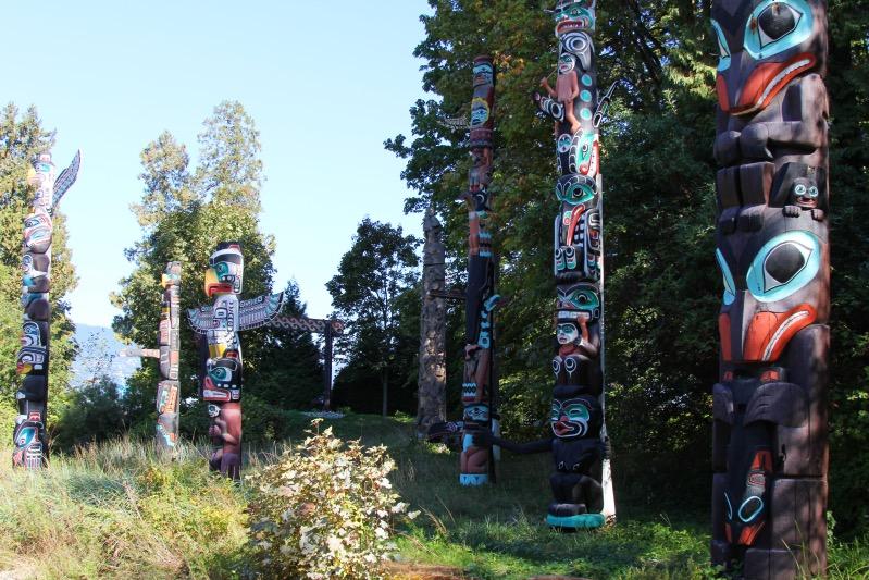Totems im Stanley Park