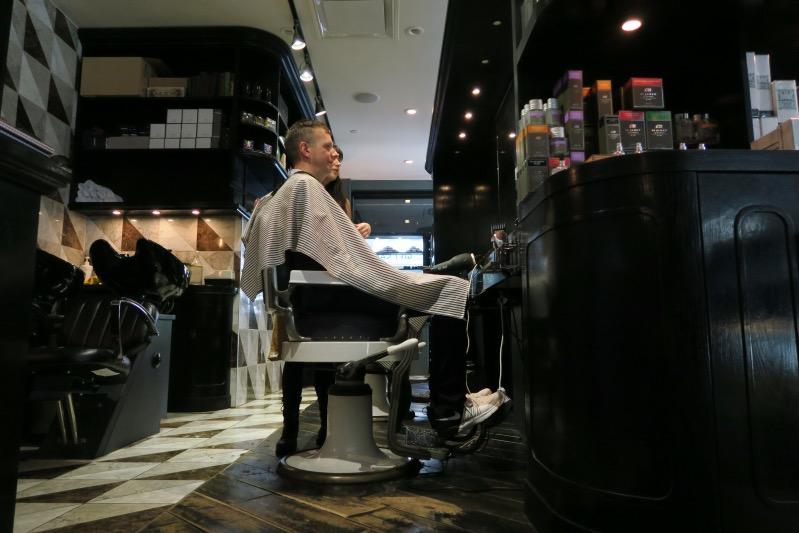 Beim Herren-Friseur in Vancouver