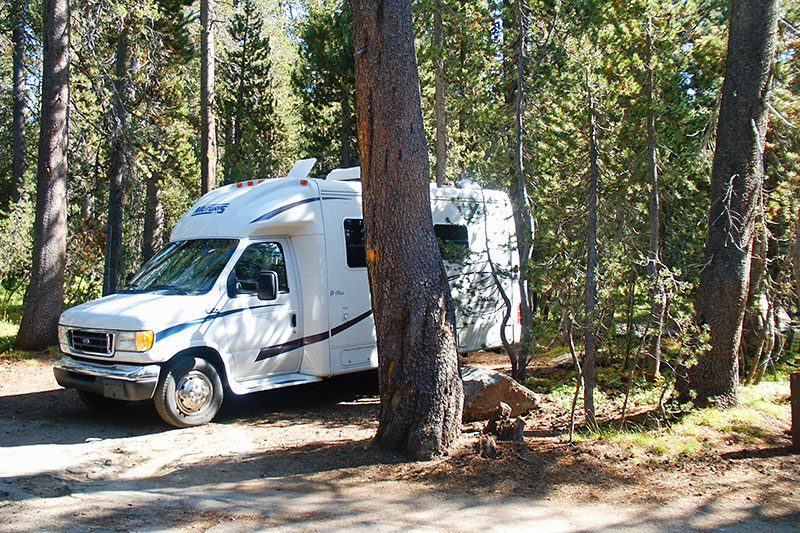 Campen im Yosemite National Park