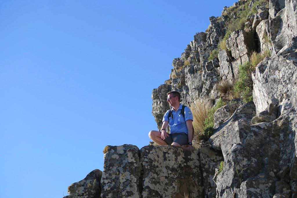 """Die """"Felsstufen"""" zum Gipfel des Lions Head"""