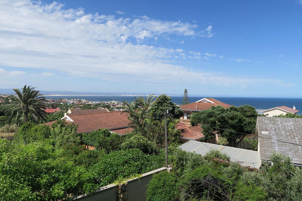 Der Blick aus unserem Guesthouse in Jeffreys Bay