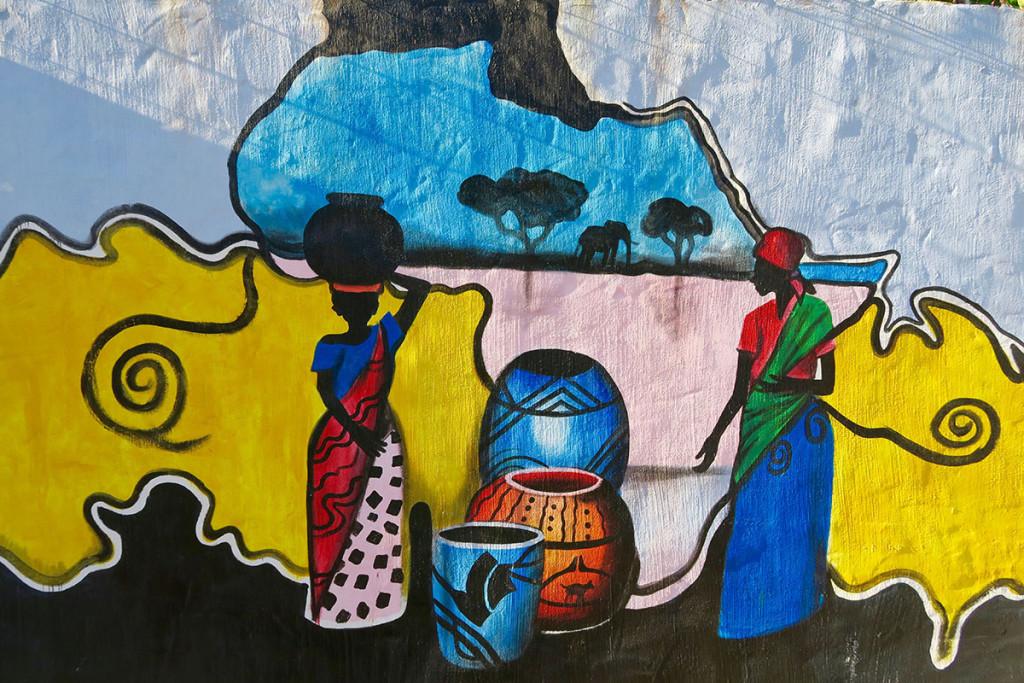 Wandmalereien in Jeffreys Bay