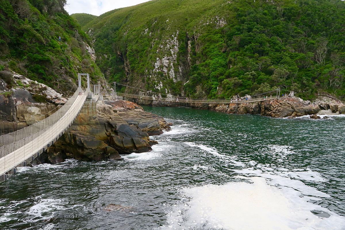 Hängebrücken am Storm River Mouth Restcamp