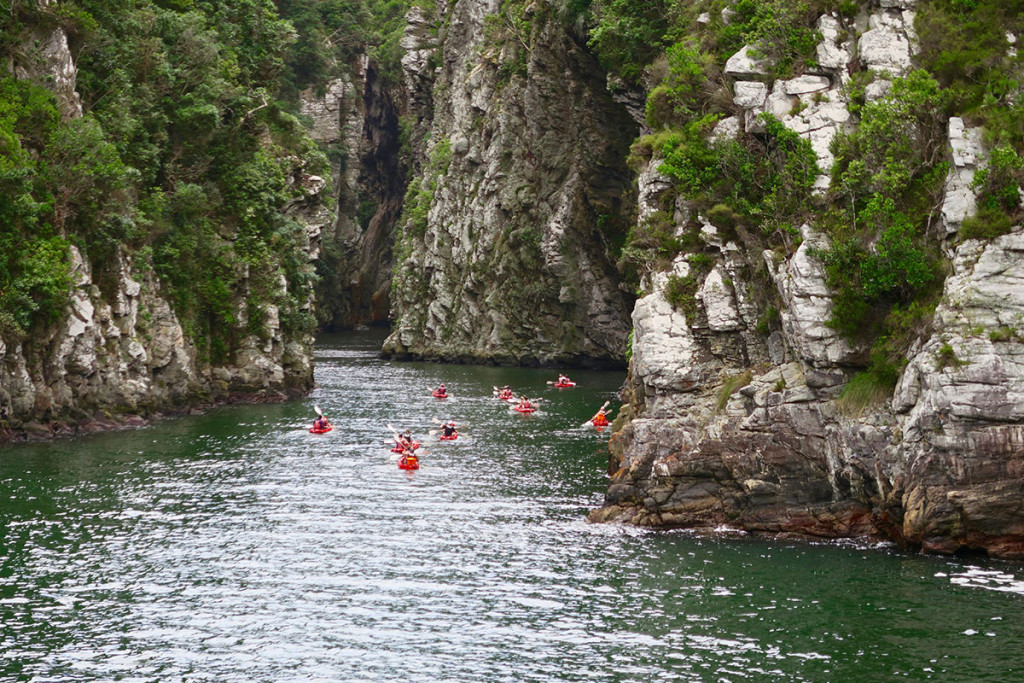 Kayak Tour in die Schlucht des Storm Rivers