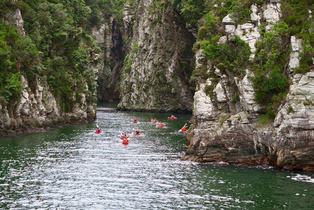 Kayak Tour in die Schlucht des Storm Rivers