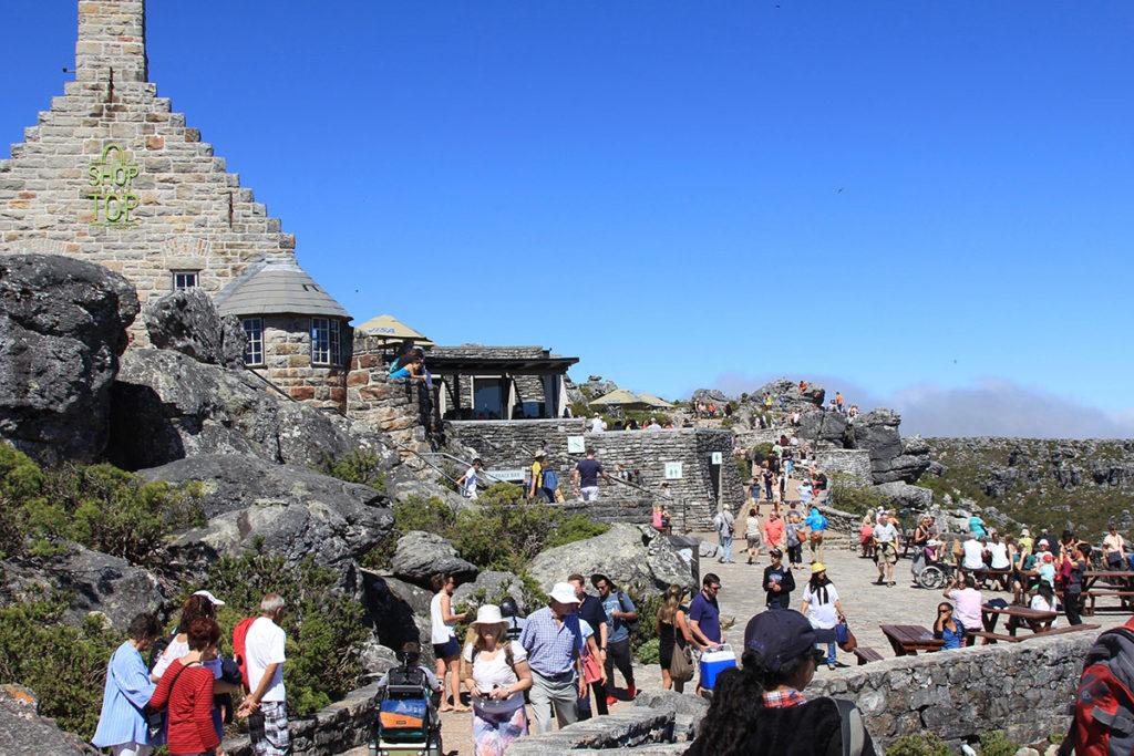 Auf dem Tafelberg, direkt an der Station ist es etwas voller...