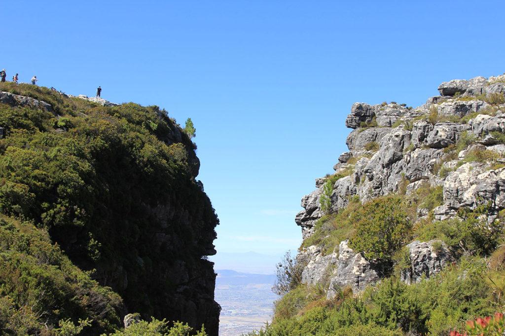 Großartige Landschaft auf dem Tafelberg
