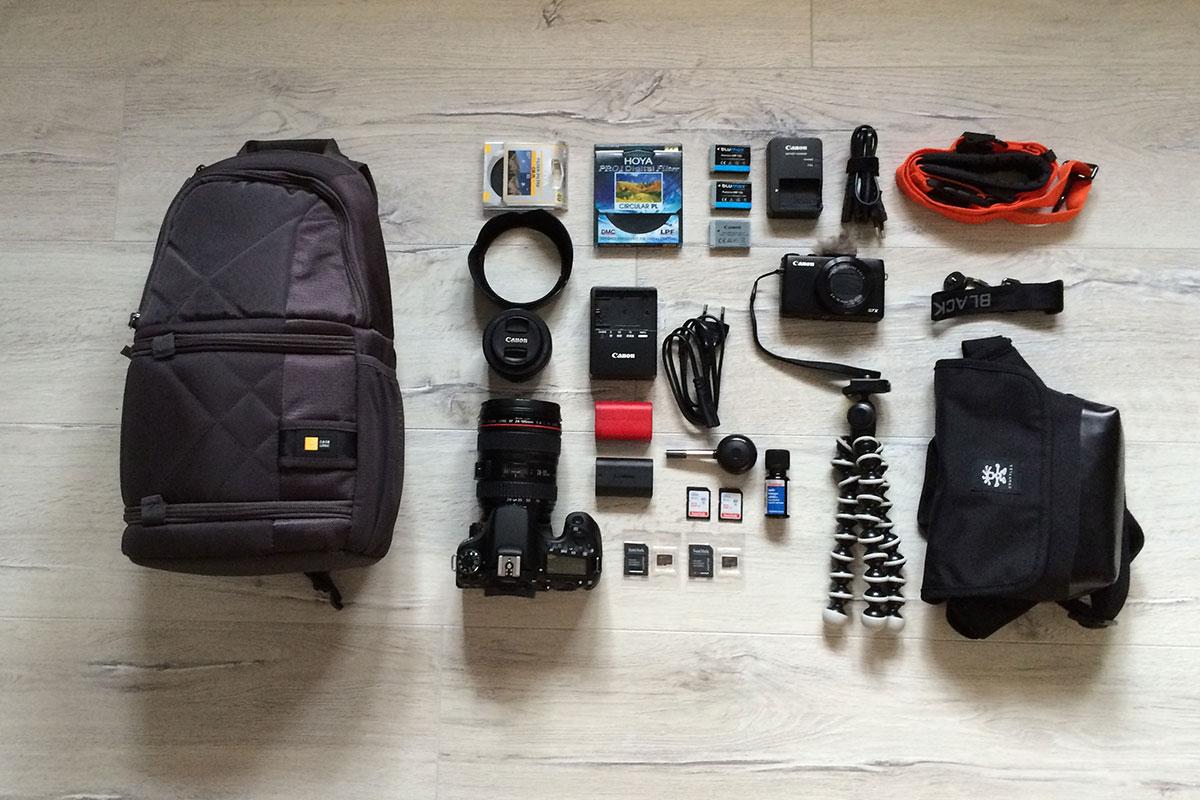 Unser Foto- und Filmequipment auf Reisen