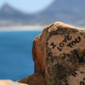 Liebeserklärung am Chapman's Peak Drive