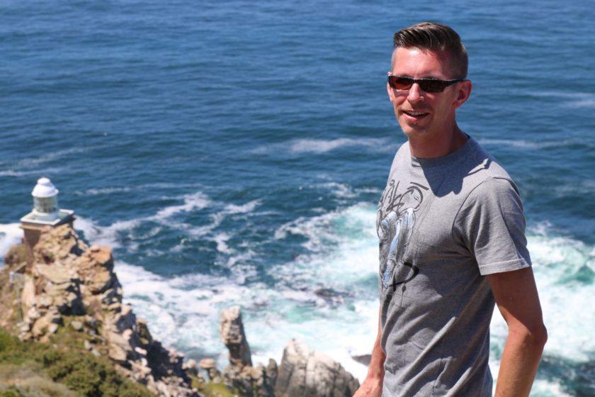 Gunnar am alten Leuchtfeuer am Cape Point