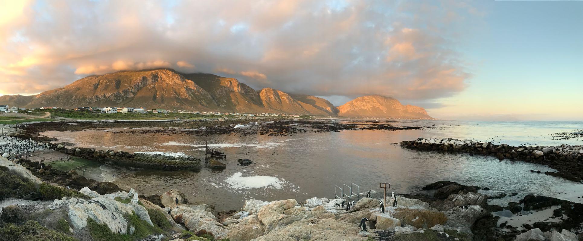 Sonnenuntergang in Betty's Bay
