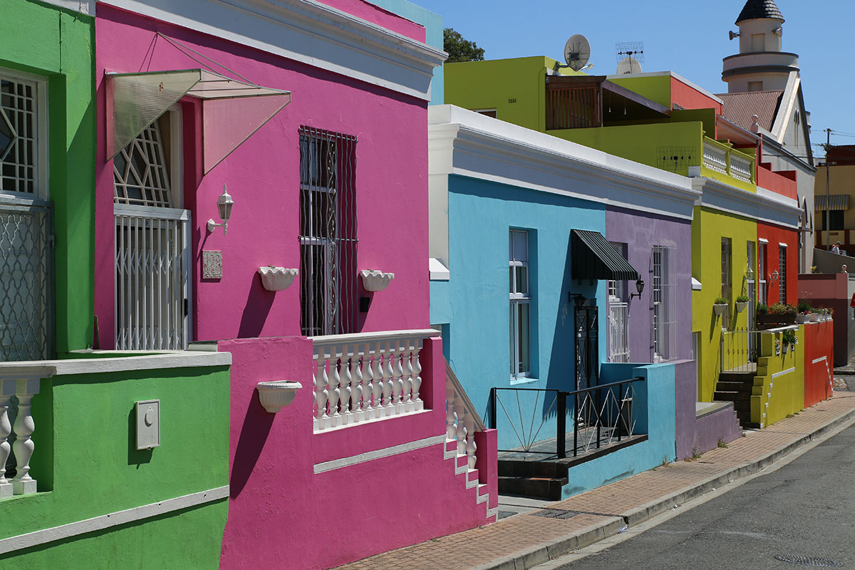 Die bunten Häuser im Bo-Kaap Viertel