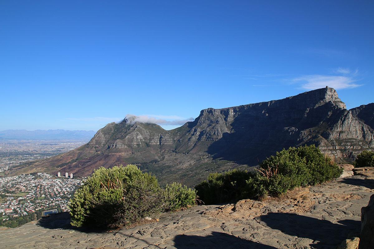 Das Gipfel Plateau ist noch relativ leer