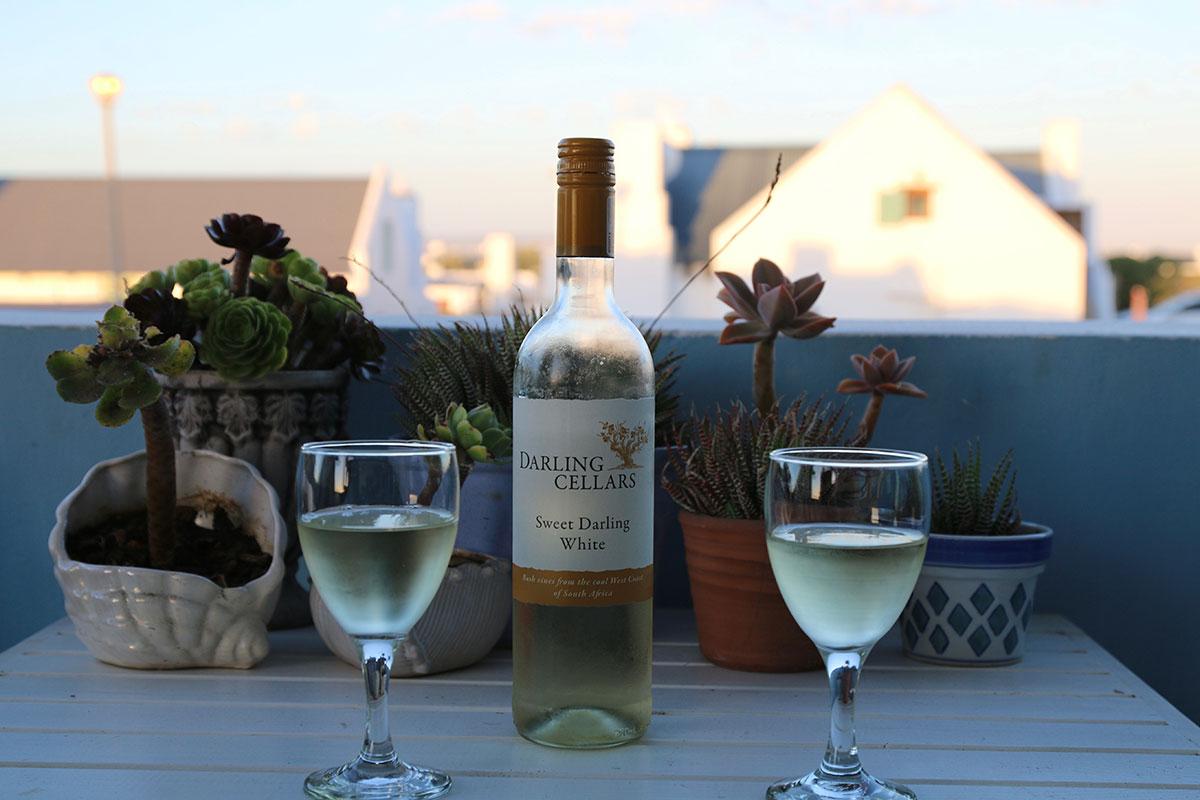 Chillen beim Darling-Wein in Paternoster