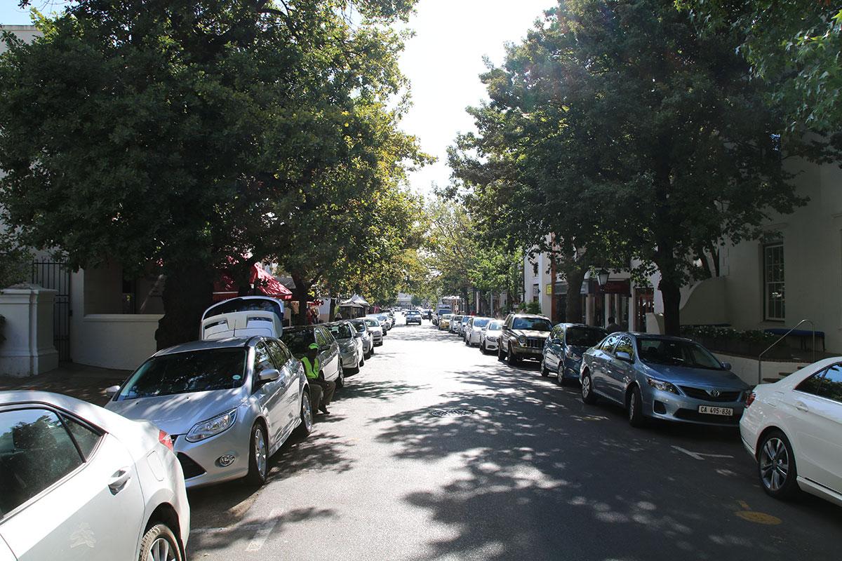 Der beschauliche alte Stadtkern von Stellenbosch