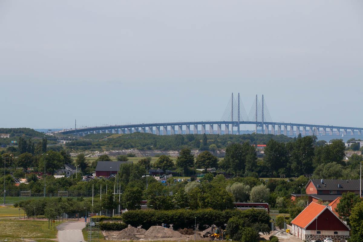 Die Öresundbrücke von Dänemark nach Schweden