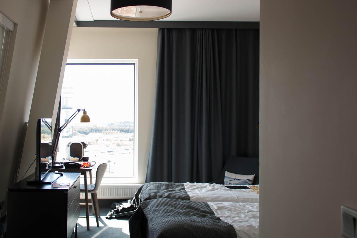 Schräg: Unser Hotelzimmer