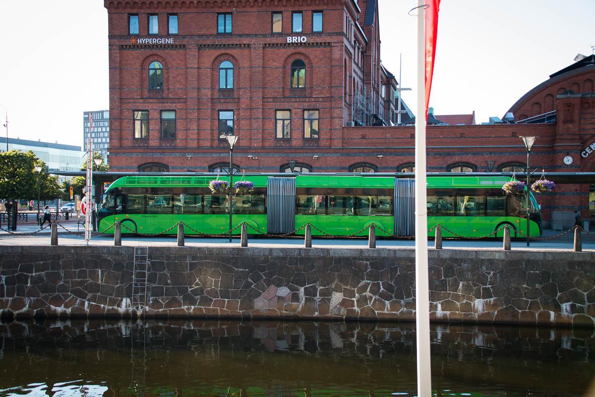 Elektrobus in Malmö
