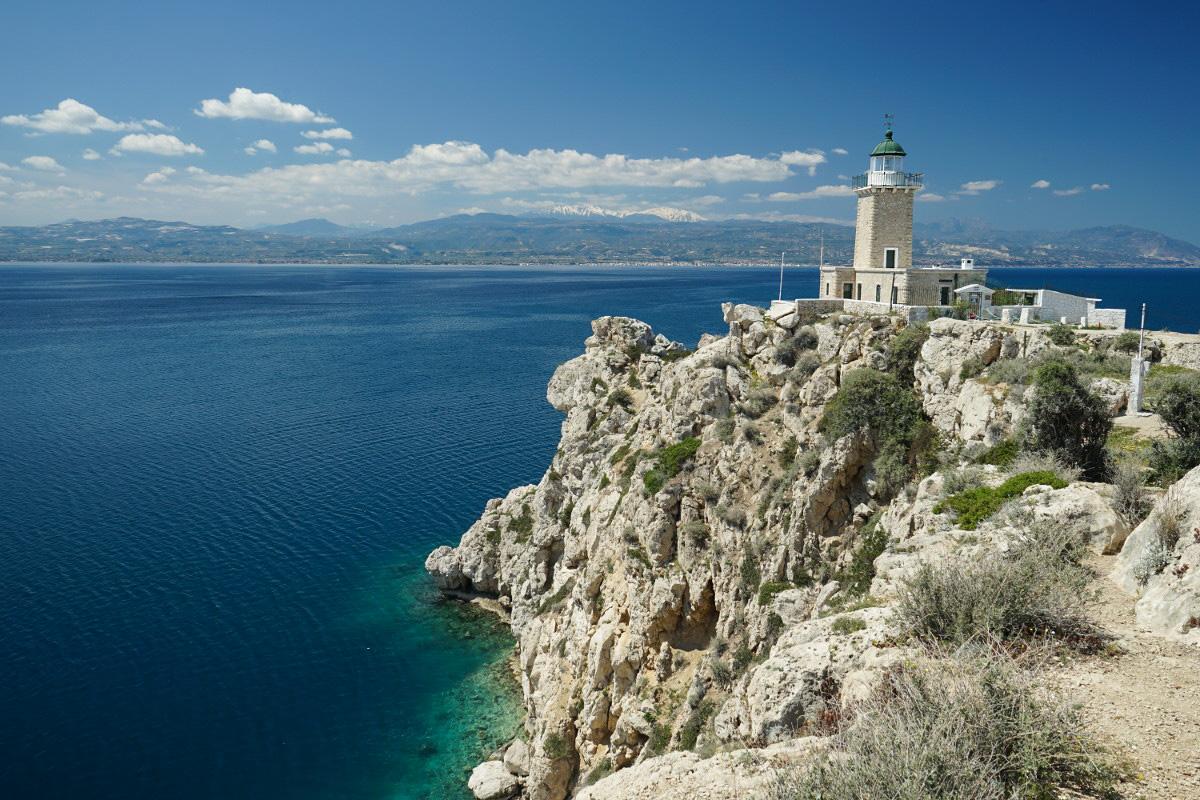 Griechenland - der Leuchtturm in Korinthos