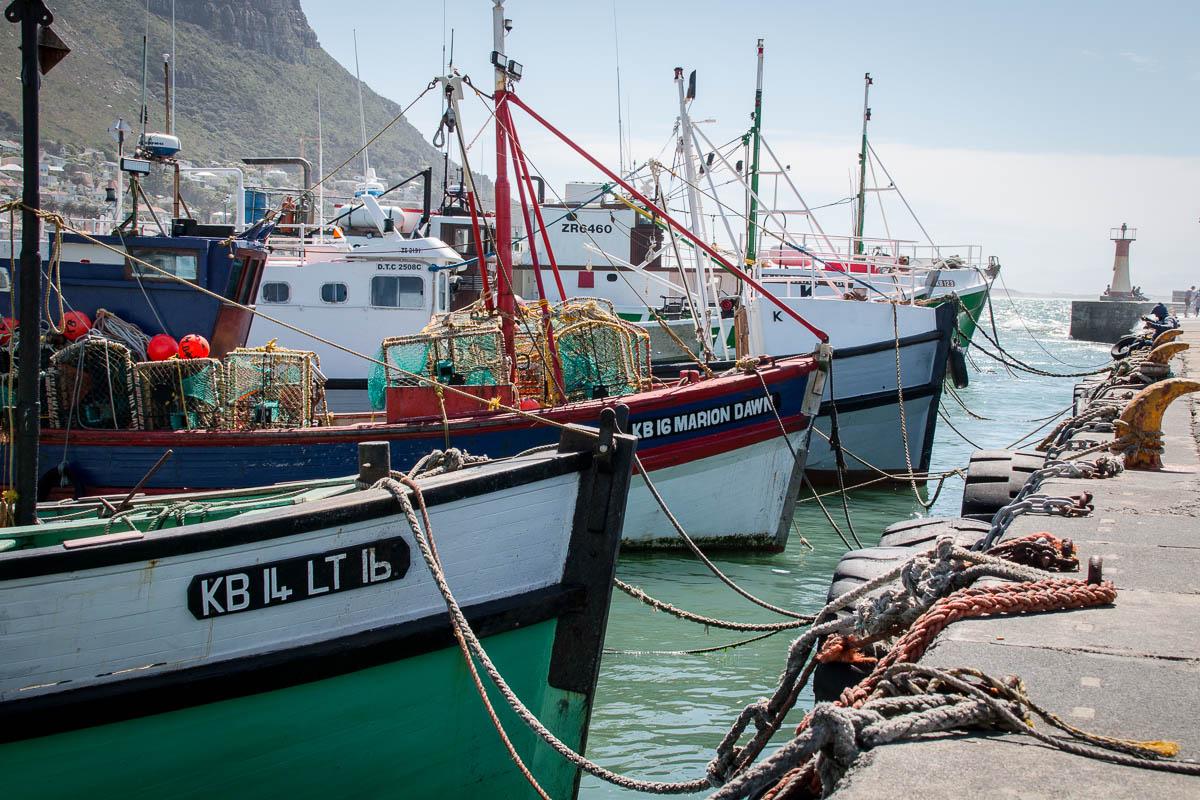Der kleine Fischerhafen in Kalk Bay
