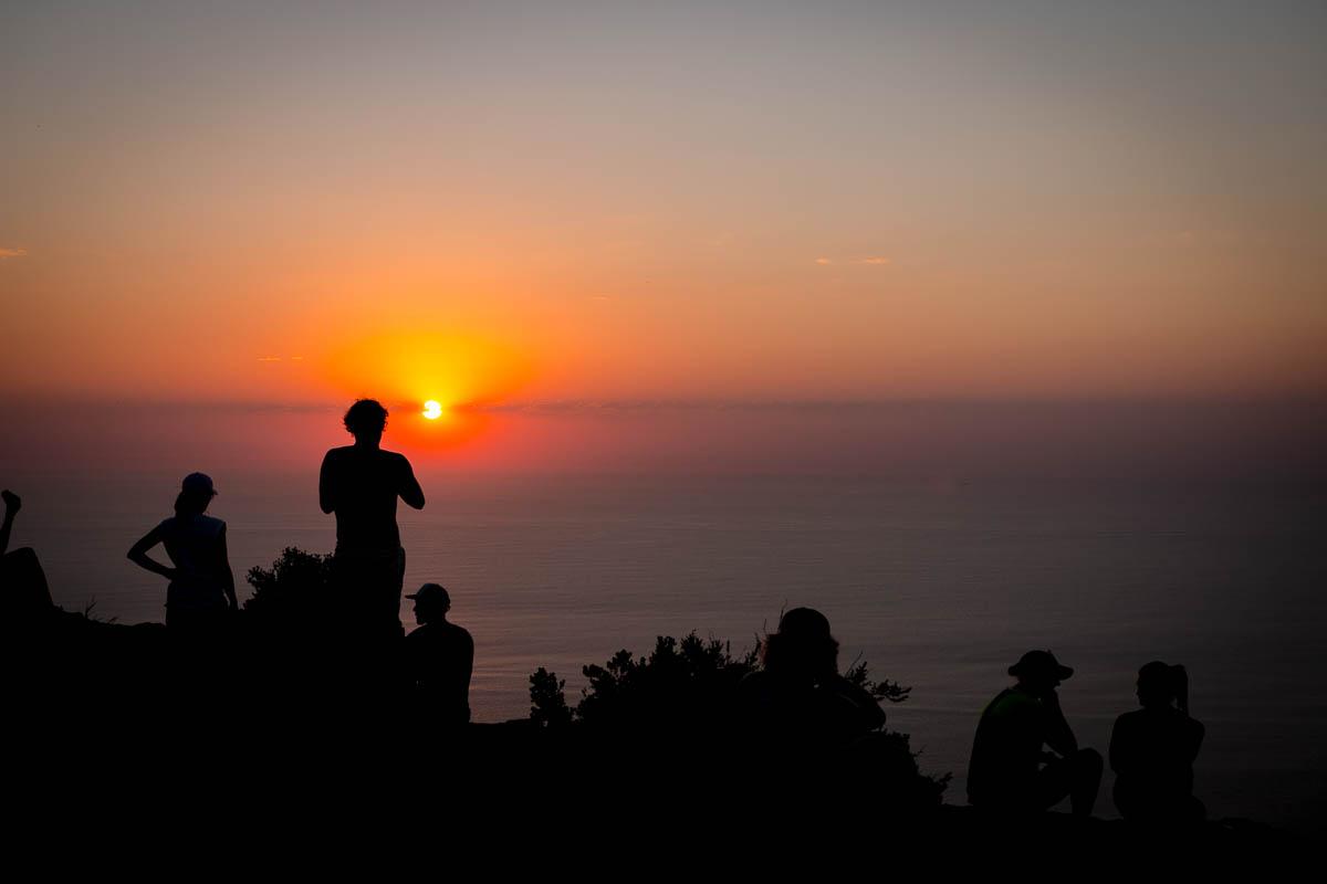 Sonnenuntergang auf dem Lions Head