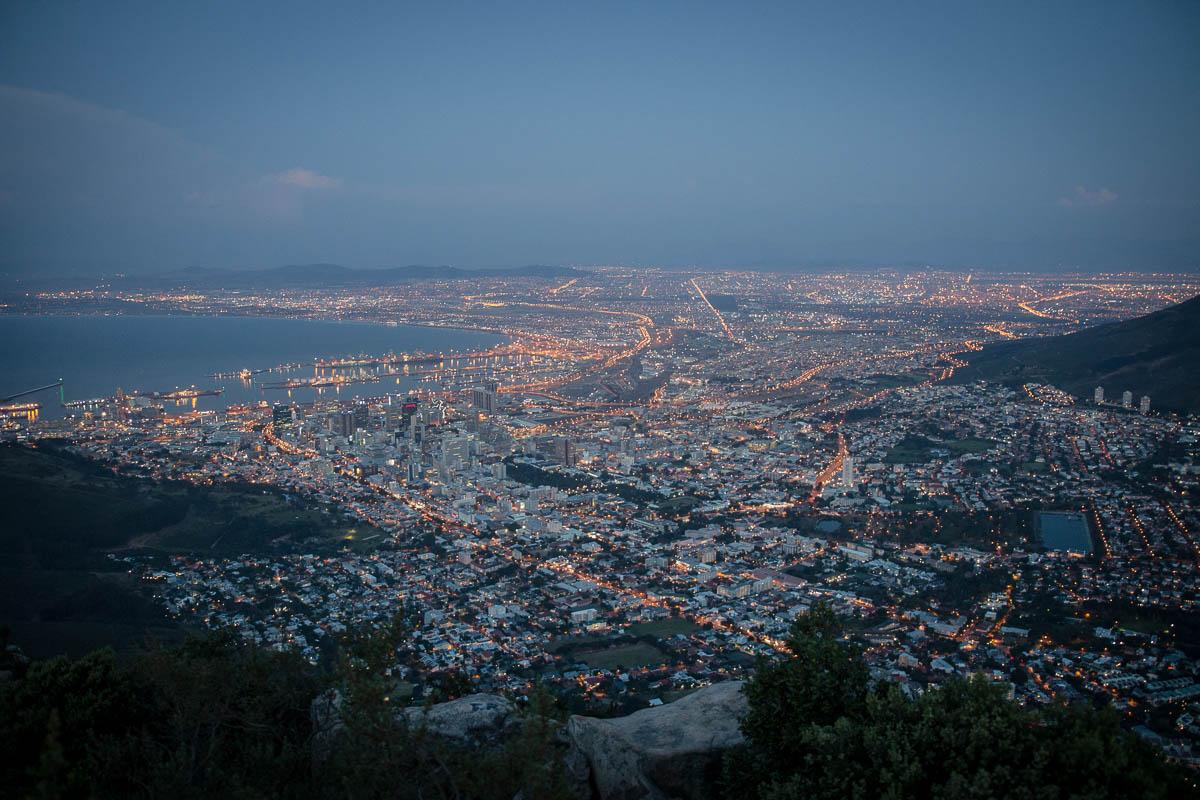 Cape Town nach Sonnenuntergang