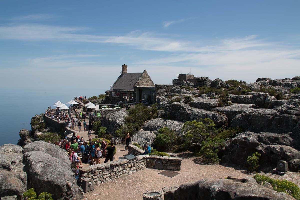 Die Seilbahnstation auf dem Tafelberg