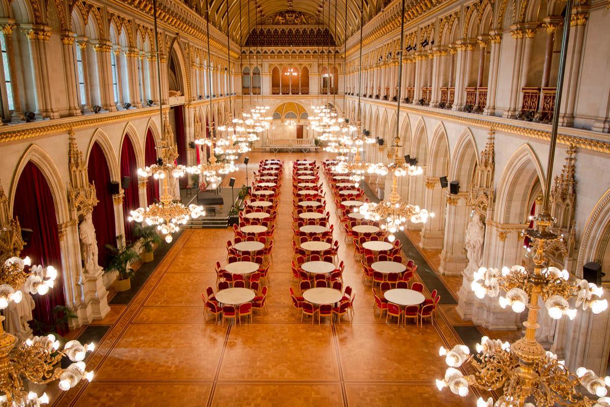 Der große Festsaal des Wiener Rathauses
