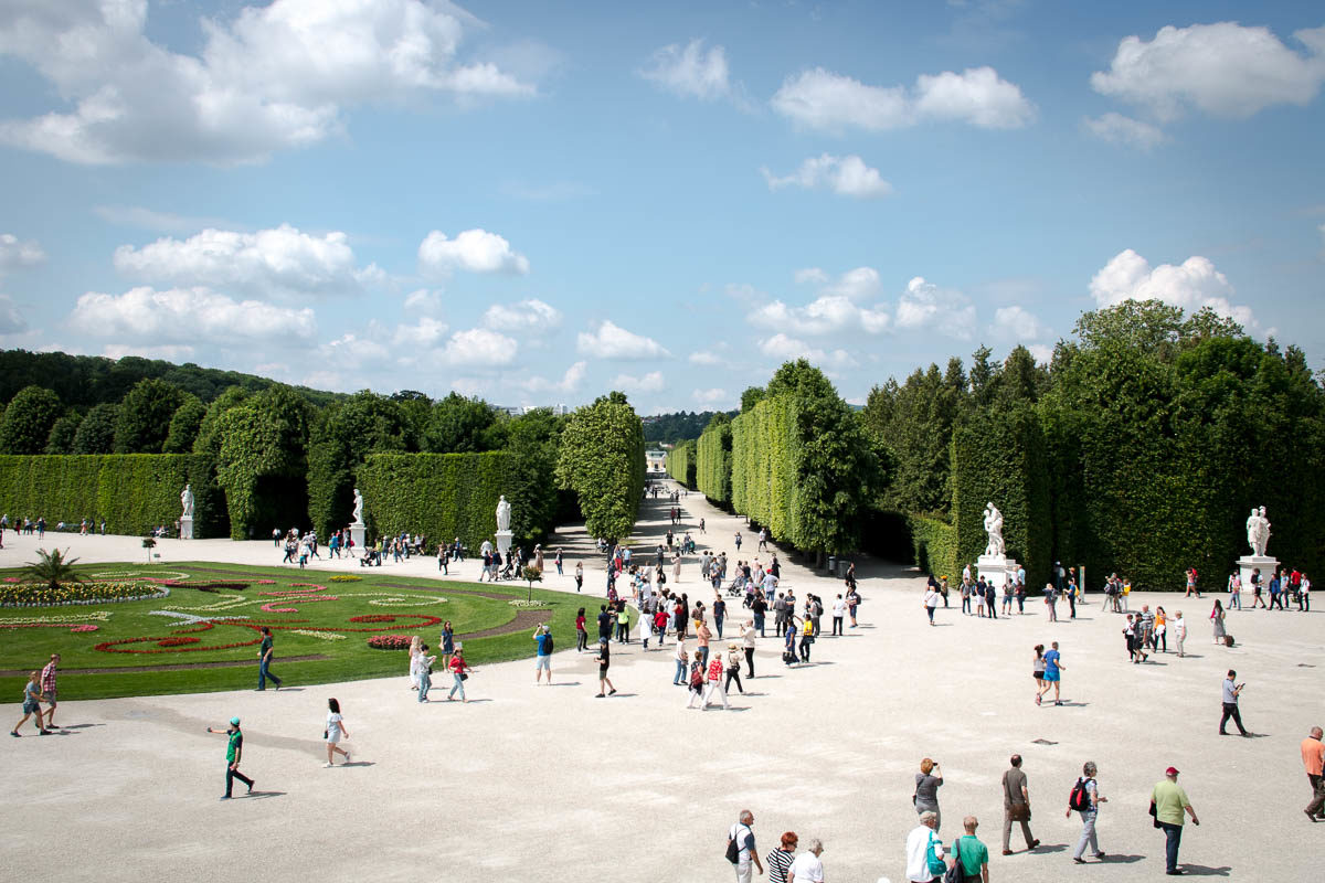 Garten von Schloss Schönbrunn