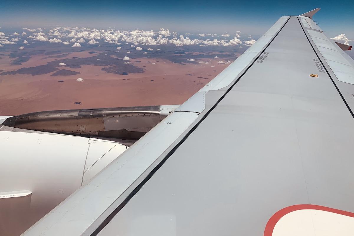 Flug über Namibia