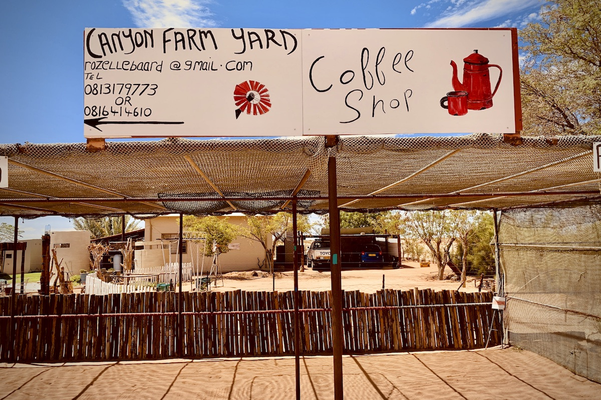 Namibia - Canyon Farm Yard Coffee Shop