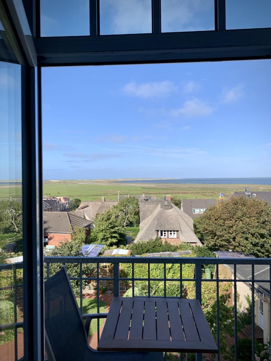 """Blick aus unserem Zimmer im """"Balkonhaus"""""""