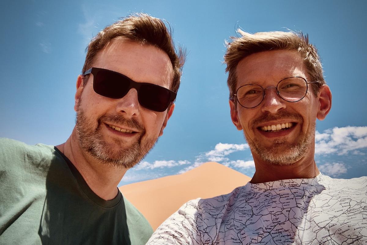 Holger und Gunnar Sossusvlei