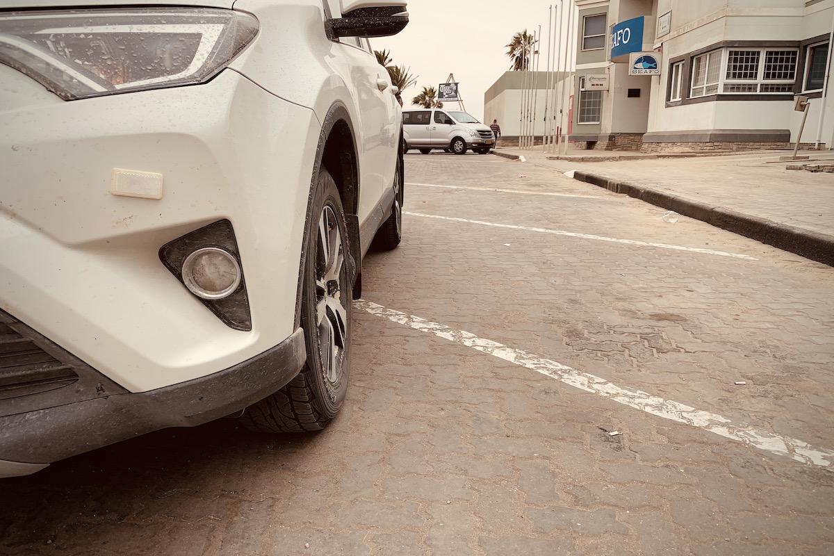 Reifenpanne in Namibia