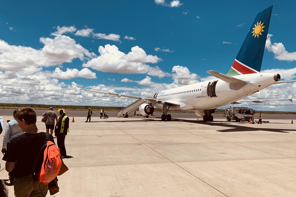 Air Namibia - ganz unkonventionelles Einsteigen