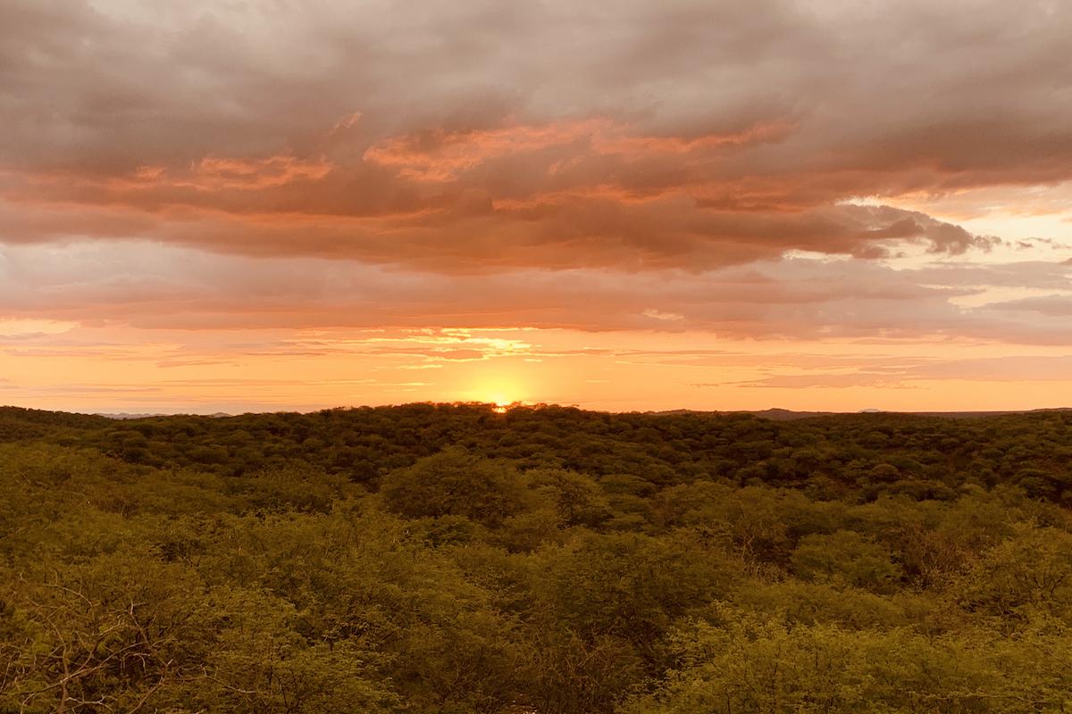Letzter Sonnenuntergang in Namibia